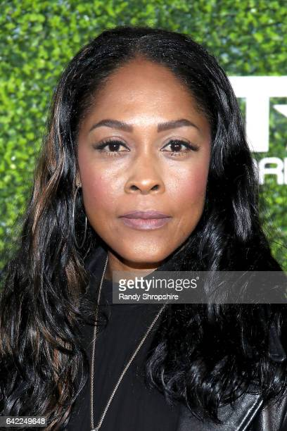 Actress Monica Calhoun attends Pre ABFF Honors Cocktail Party hosted by Debra L Lee Jeff Friday at Cecconi's on February 16 2017 in West Hollywood...