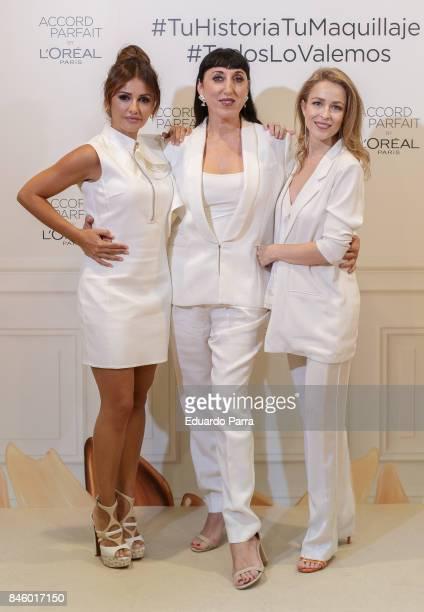 Actress Monica Cruz actress Rossy de Palma and actress Silvia Abascal attend the 'L'Oreal Accord Parfit' photocall at Circulo de Bellas Artes on...