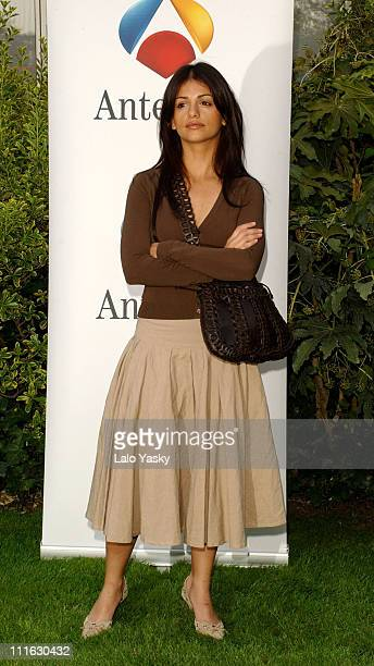 Actress Monica Cruz announces the end of her TV show 'Un Paso Adelante' during a press conference at Antena 3 Studios in Madrid