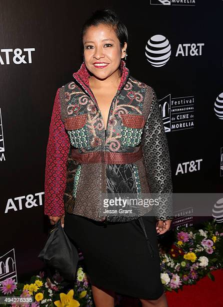 Actress Monica del Carmen attends the Mexico premiere of '600 Millas' during The 13th Annual Morelia International Film Festival on October 25 2015...