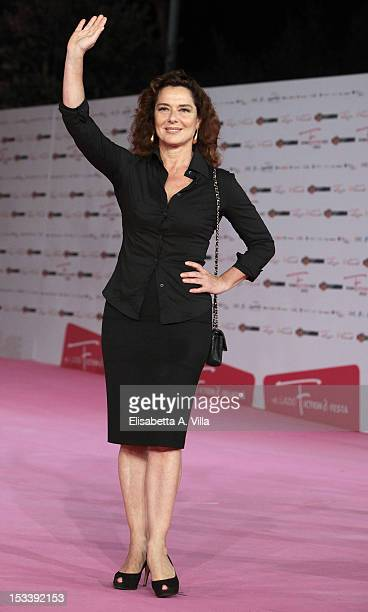 Actress Monica Guerritore attends 'Trilussa Storia d'Amore e di Poesia' premiere during the 2012 RomaFictionFest at Auditorium Parco della Musica on...