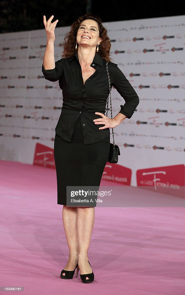 Actress Monica Guerritore attends 'Trilussa, Storia d'Amore e di Poesia' premiere during the 2012 RomaFictionFest at Auditorium Parco della Musica on October 4, 2012 in Rome, Italy.