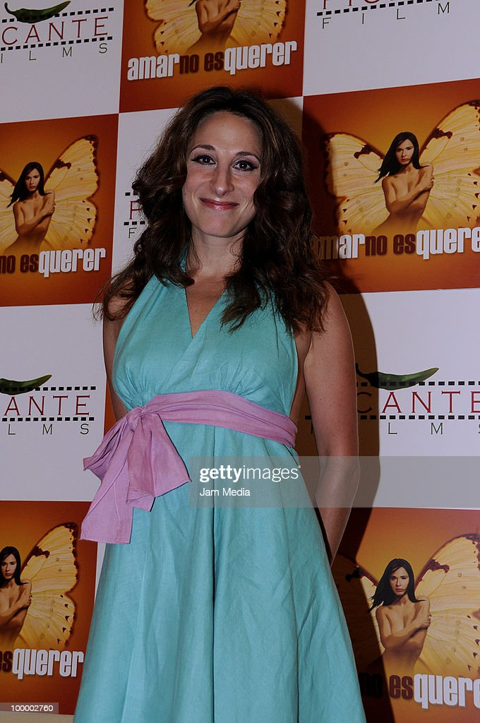 Actress Monica Huarte poses for a photograph during a press conference to present the movie 'Amar no es Querer' at Marriot Hotel on May 19, 2010 in Mexico City, Mexico.