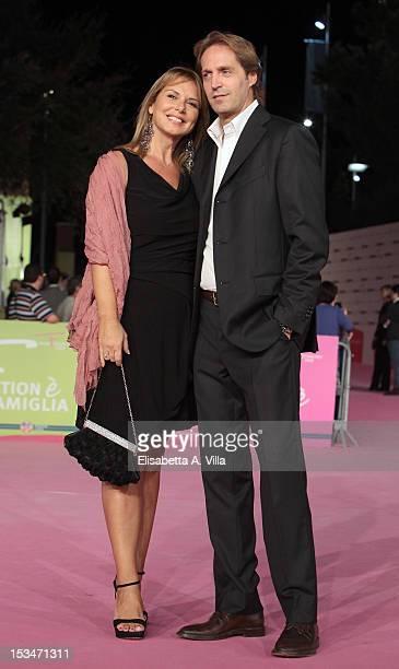 Actress Monica Leofreddi and husband Gianluca Delli Ficorelli attend the 2012 RomaFictionFest Closing Cerimony at Auditorium Parco della Musica on...