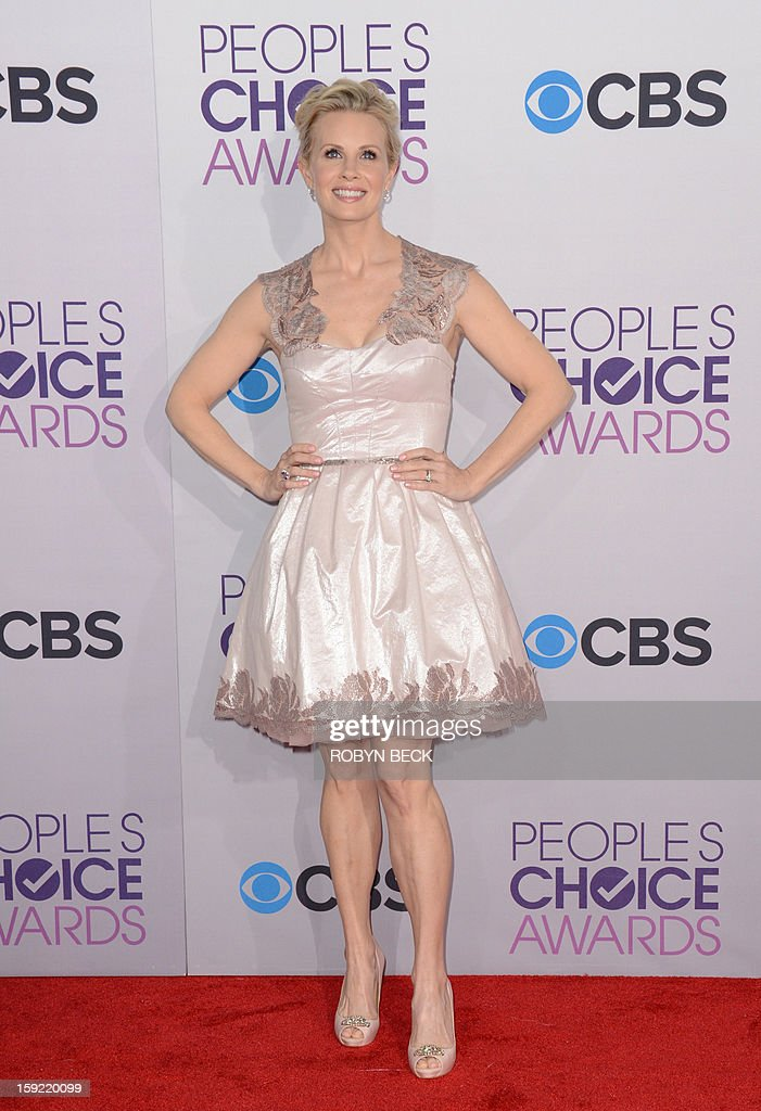 Actress Monica Potter arrives for the 2013 People's Choice Awards at the Nokia Theatre in Los Angeles, California, January 9, 2013. AFP PHOTO / Robyn Beck