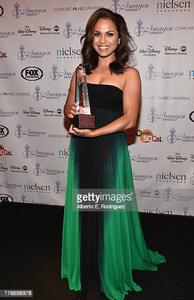 Actress Monica Raymund attend the 28th Annual Imagen Awards at The Beverly Hilton Hotel on August 16 2013 in Beverly Hills California