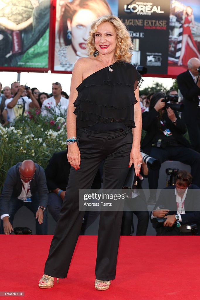 Actress Monica Scattini attends 'The Zero Theorem' Premiere during the 70th Venice International Film Festival at the Palazzo del Cinema on September 2, 2013 in Venice, Italy.