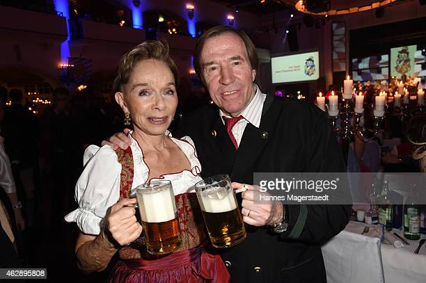 Actress Monika Peitsch and Guenther Netzer attend the Filserball 2015 at Loewnbraeukeller on February 6 2015 in Munich Germany