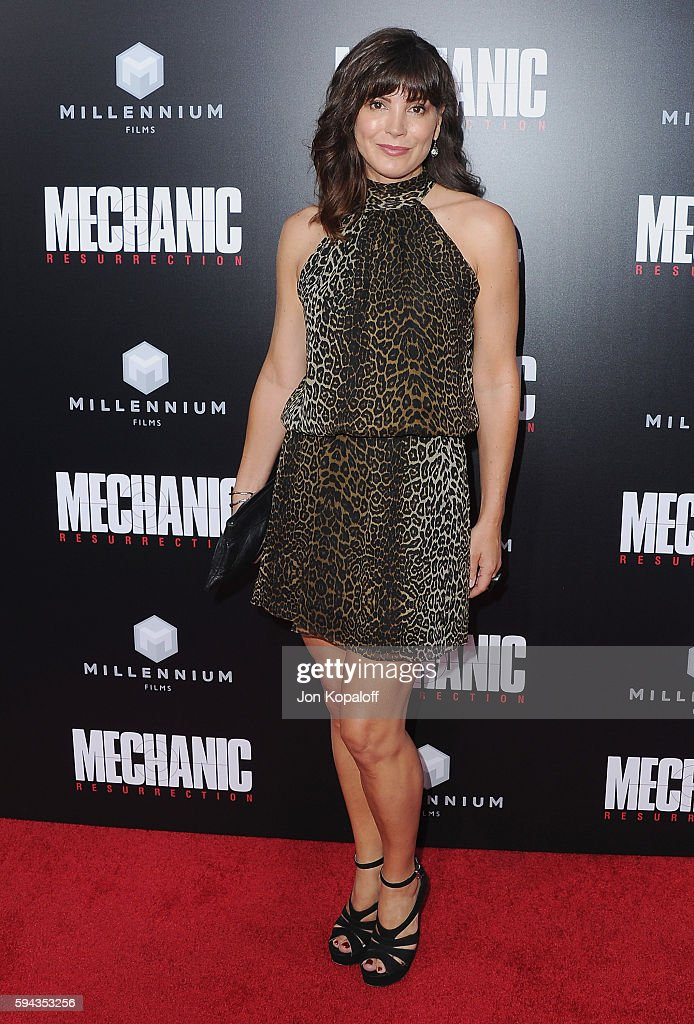 Actress Moniqua Plante arrives at the Los Angeles Premiere 'Mechanic Resurrection' at ArcLight Hollywood on August 22 2016 in Hollywood California