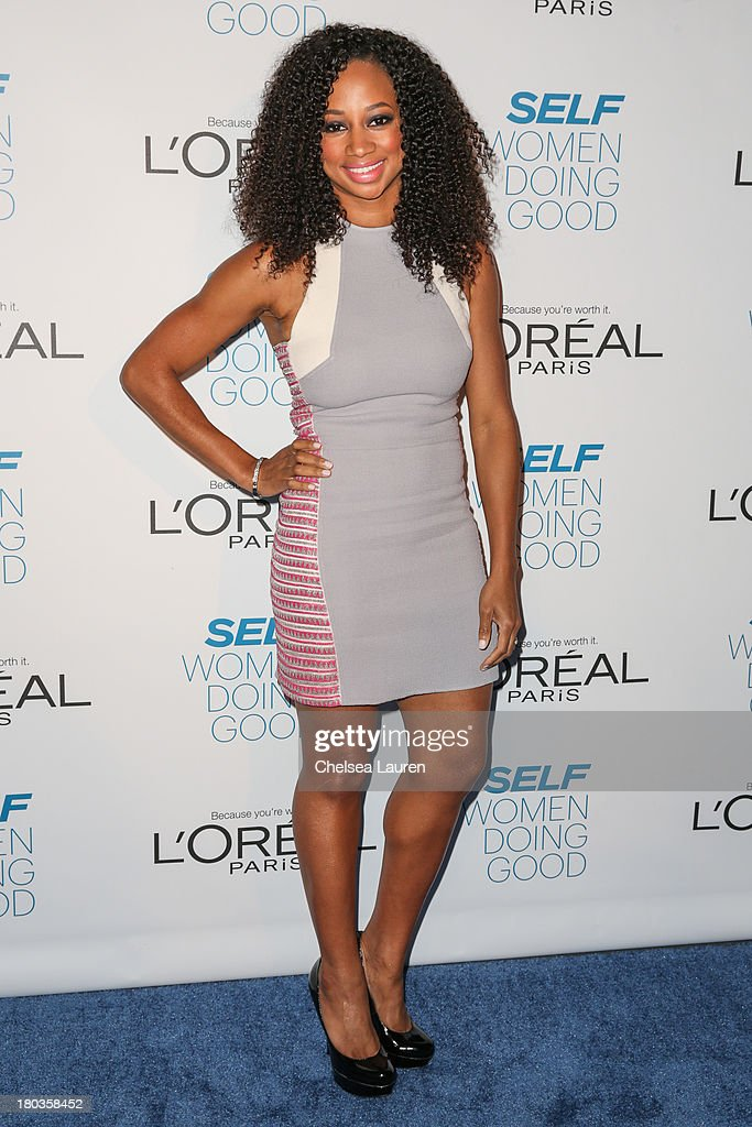 Actress <a gi-track='captionPersonalityLinkClicked' href=/galleries/search?phrase=Monique+Coleman&family=editorial&specificpeople=614618 ng-click='$event.stopPropagation()'>Monique Coleman</a> arrives at the 6th annual SELF Magazine's Women Doing Good Awards at Apella on September 11, 2013 in New York City.