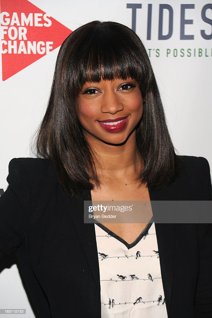 Actress Monique Coleman attends Games For Change presents the launch of Half The Sky Movement: The Game at No. 8 on March 4, 2013 in New York City.