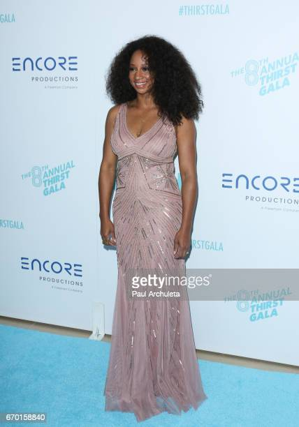 Actress Monique Coleman attends the 8th annual Thirst Gala at The Beverly Hilton Hotel on April 18 2017 in Beverly Hills California