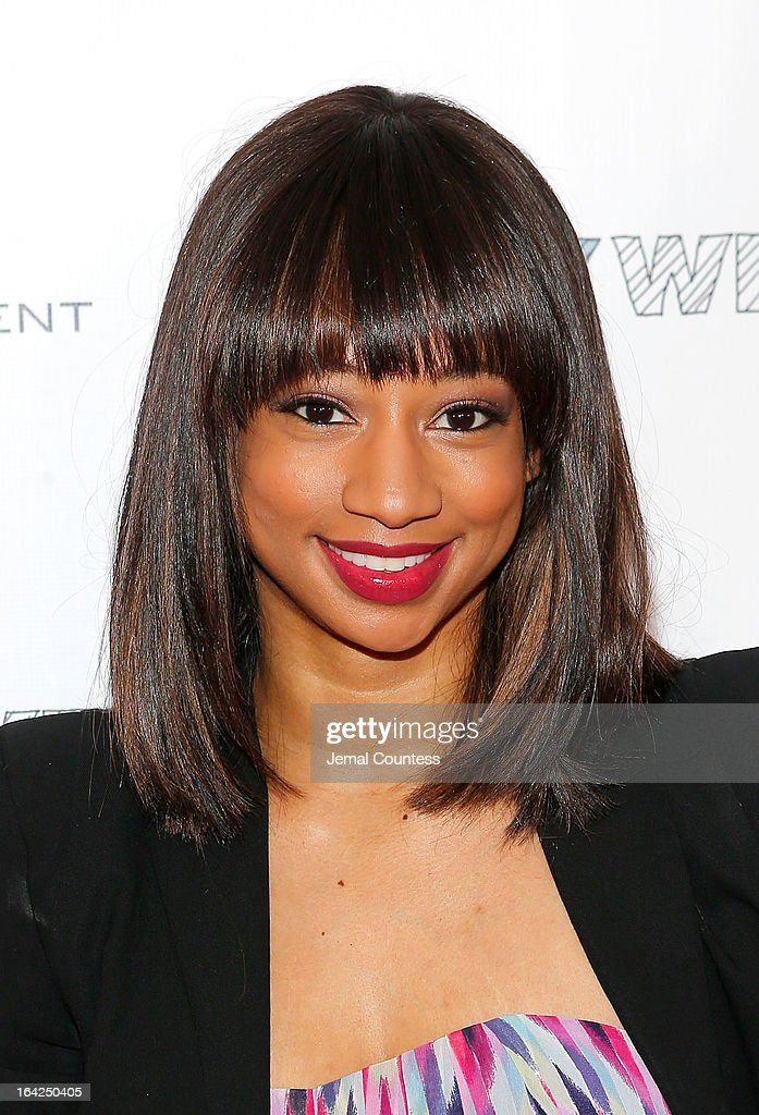 Actress Monique Coleman attends the 'Family Weekend' New York Screening at Chelsea Clearview Cinemas on March 21, 2013 in New York City.
