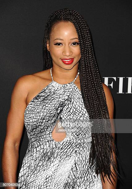 Actress Monique Coleman attends the premiere of 'Fifty Shades of Black' at Regal Cinemas LA Live on January 26 2016 in Los Angeles California