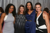 Actress Monique Coleman TV personality Gail Simmons TV personality Padma Lakshmi and actress Katie Lowe pose at the 6th annual SELF Magazine's Women...