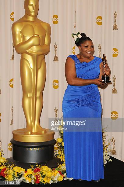 Actress Monique poses in the press room at the 82nd Annual Academy Awards held at Kodak Theatre on March 7 2010 in Hollywood California