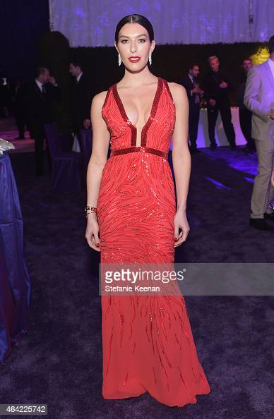Actress Monique Zordan attends the 23rd Annual Elton John AIDS Foundation Academy Awards viewing party with Chopard on February 22 2015 in Los...