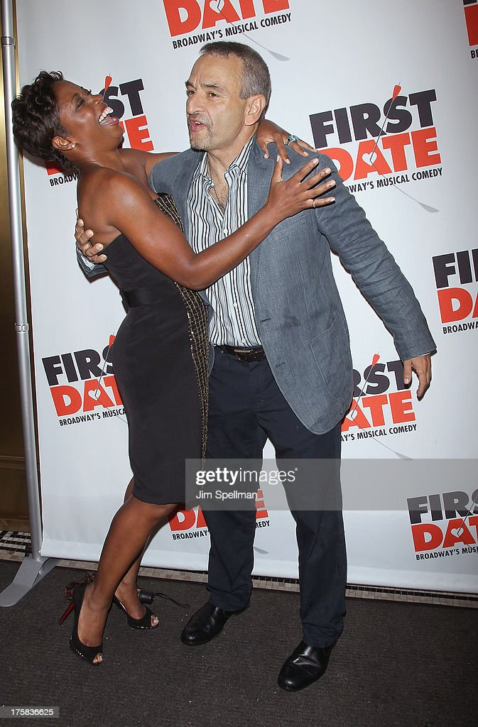 Actress Montego Glover and Playwright Joe DiPietro attend 'First Date' Broadway Opening Night at Longacre Theatre on August 8, 2013 in New York City.