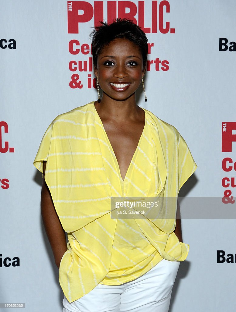 Actress Montego Glover attends Annual Public Theater Gala at Delacorte Theater on June 11, 2013 in New York City.
