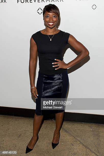 Actress Montego Glover attends Hold My Hand Forever Exhibition By Forevermark at Highline Studios on November 17 2014 in New York City