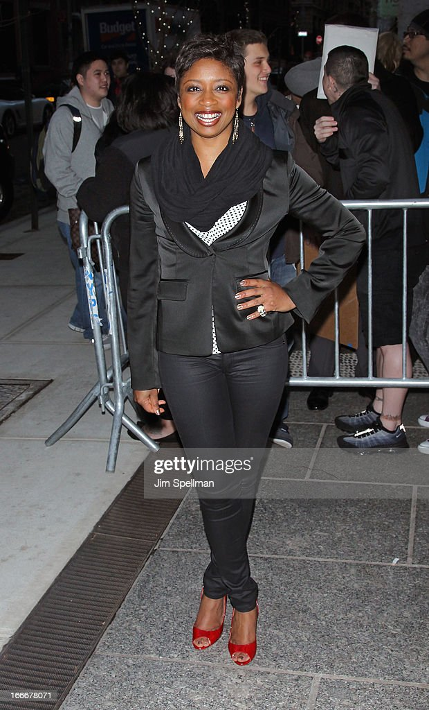 Actress Montego Glover attends The Cinema Society and Men's Fitness screening of 'Pain and Gain' at Crosby Street Hotel on April 15, 2013 in New York City.