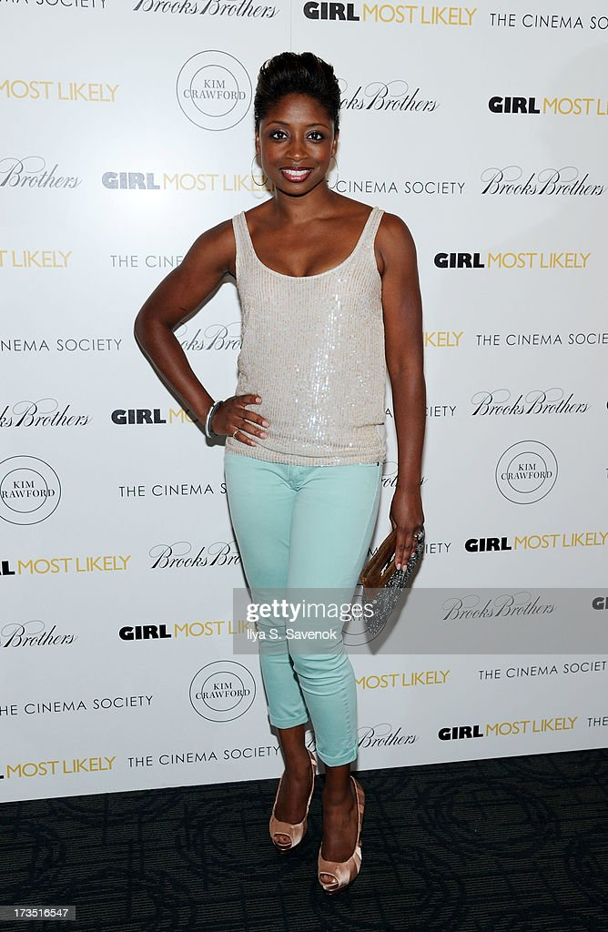Actress Montego Glover attends The Cinema Society & Brooks Brothers Host A Screening Of Lionsgate And Roadside Attractions' 'Girl Most Likely's at Landmark Sunshine Cinema on July 15, 2013 in New York City.