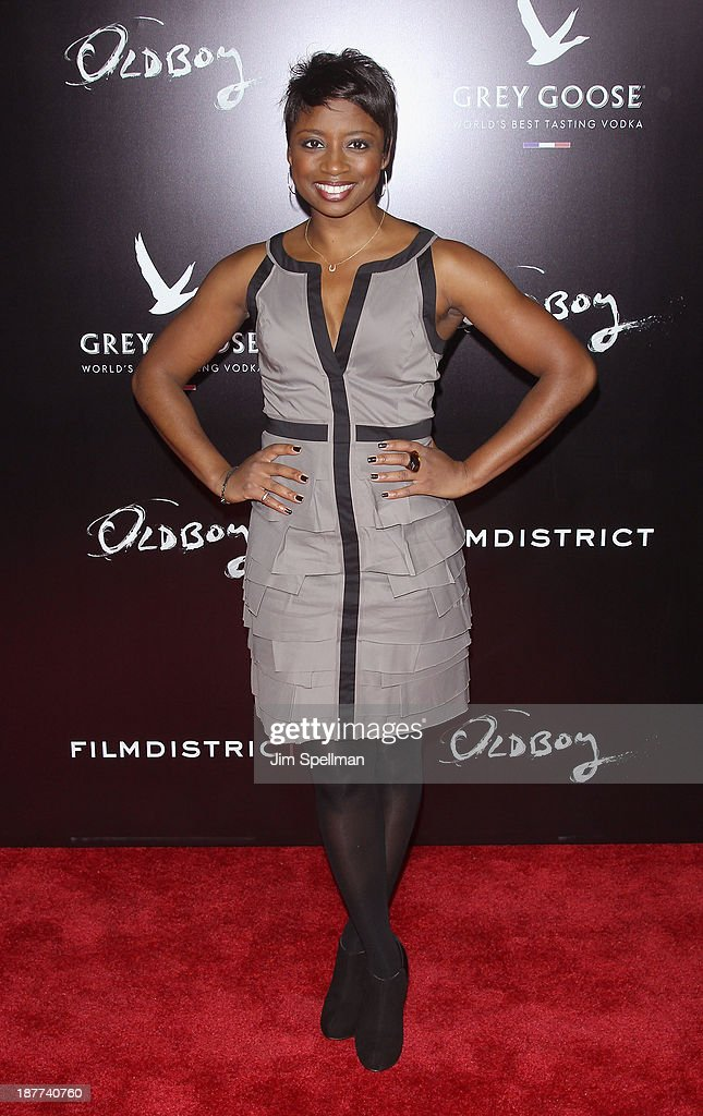 Actress Montego Glover attends the FilmDistrict & Complex Media with The Cinema Society & Grey Goose screening of 'Oldboy' at AMC Lincoln Square Theater on November 11, 2013 in New York City.