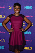Actress Montego Glover attends the 'Girls' season three premiere at Jazz at Lincoln Center on January 6 2014 in New York City
