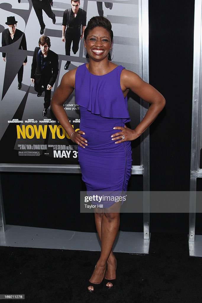 Actress Montego Glover attends the 'Now You See Me' premiere at AMC Lincoln Square Theater on May 21, 2013 in New York City.