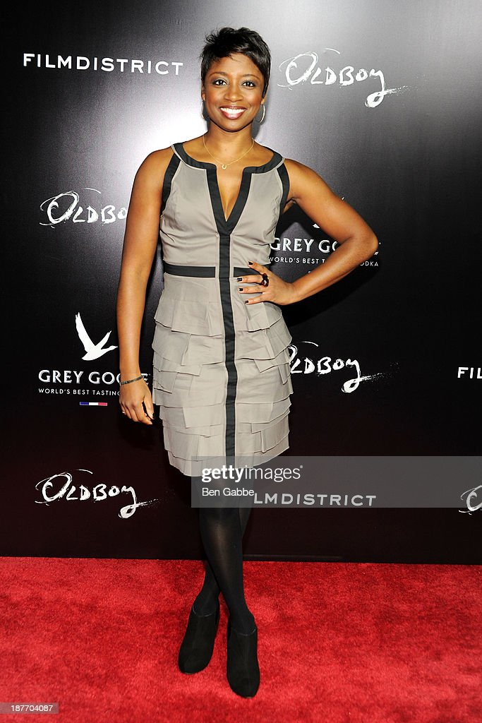 Actress Montego Glover attends the screening of 'Oldboy' hosted by FilmDistrict and Complex Media with the Cinema Society and Grey Goose at AMC Lincoln Square Theater on November 11, 2013 in New York City.