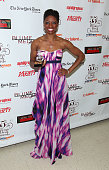 Actress Montego Glover receives an award at the 55th Annual Drama Desk Awards at the FH LaGuardia Concert Hall at Lincoln Center on May 23 2010 in...