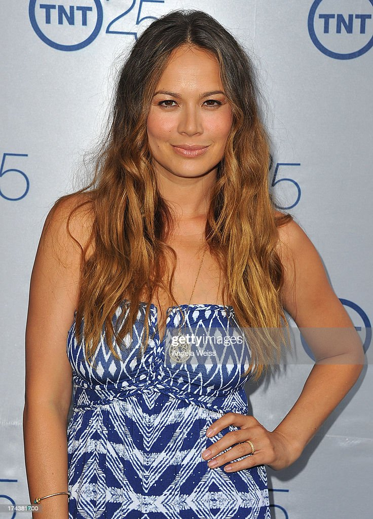 Actress <a gi-track='captionPersonalityLinkClicked' href=/galleries/search?phrase=Moon+Bloodgood&family=editorial&specificpeople=742638 ng-click='$event.stopPropagation()'>Moon Bloodgood</a> attends TNT 25th Anniversary Party at The Beverly Hilton Hotel on July 24, 2013 in Beverly Hills, California.