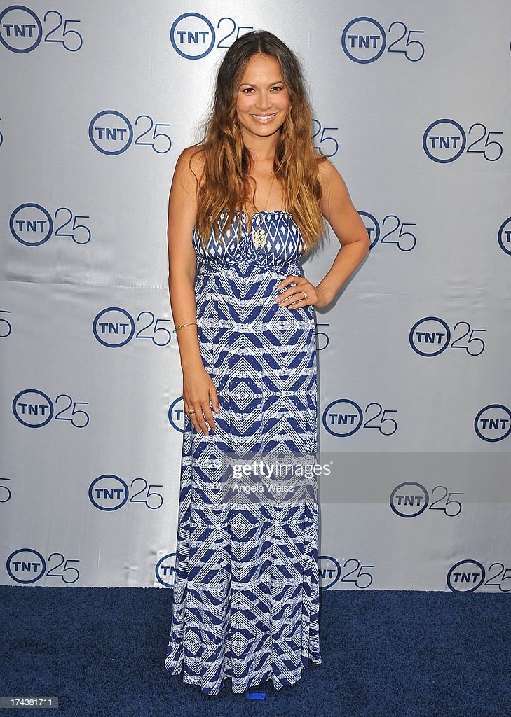 Actress Moon Bloodgood attends TNT 25th Anniversary Party at The Beverly Hilton Hotel on July 24, 2013 in Beverly Hills, California.