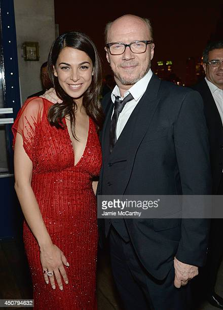 Actress Moran Atias and director Paul Haggis attend The Cinema Society Revlon screening of Sony Pictures Classics' 'Third Person' after party on June...