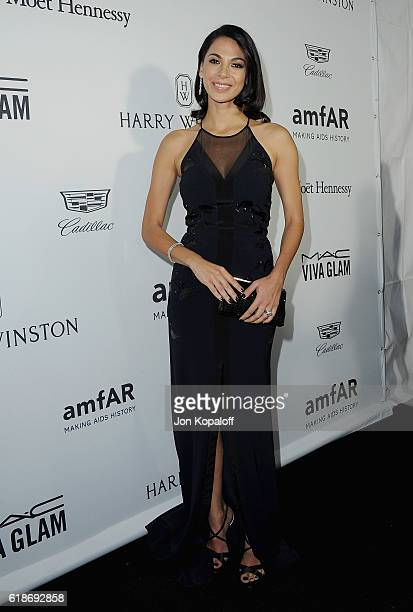Actress Moran Atias arrives at amfAR's Inspiration Gala Los Angeles at Milk Studios on October 27 2016 in Hollywood California
