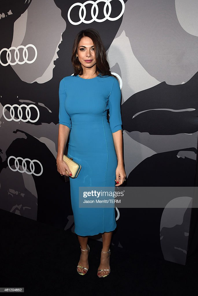 Actress <a gi-track='captionPersonalityLinkClicked' href=/galleries/search?phrase=Moran+Atias&family=editorial&specificpeople=3964520 ng-click='$event.stopPropagation()'>Moran Atias</a> attends Audi celebrates Golden Globes Week 2015 at Cecconi's Restaurant on January 8, 2015 in Los Angeles, California.