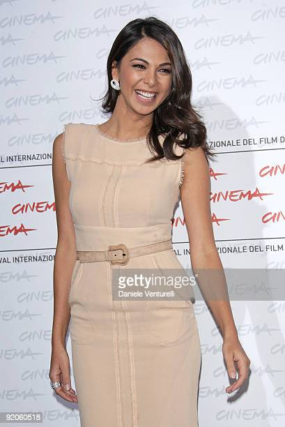 Actress Moran Atias attends the 'Oggi Sposi' Photocall during day 6 of the 4th Rome International Film Festival held at the Auditorium Parco della...