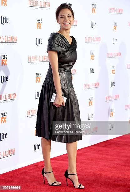 Actress Moran Atias Ray attends the premiere of FX's 'American Crime Story The People V OJ Simpson' at Westwood Village Theatre on January 27 2016 in...