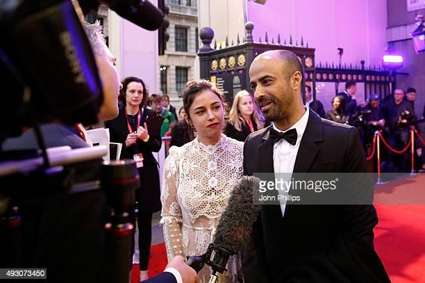 Actress Moran Rosenblatt and Nitzan Gilady attend the BFI London Film Festival Awards at Banqueting House on October 17 2015 in London England