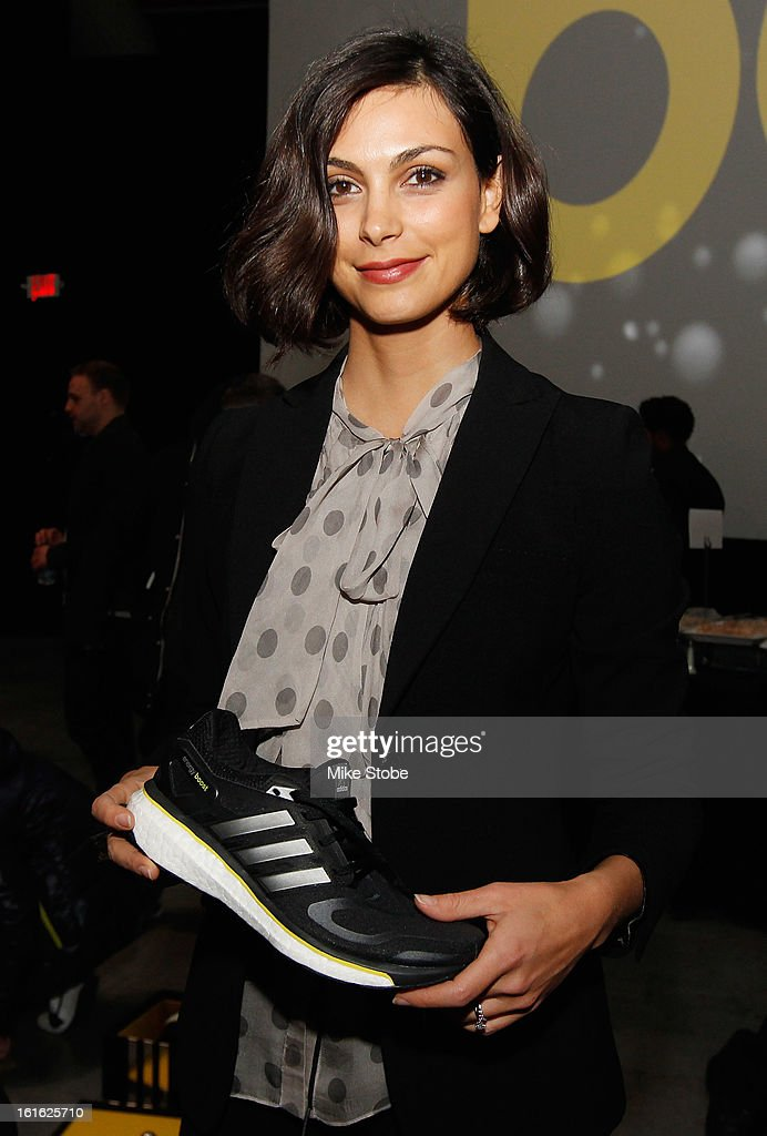 Actress Morena Baccarian attends the unveiling of the adidas Energy Boost sneaker at the Jacob K. Javits Convention Center on February 13, 2013 in New York City.