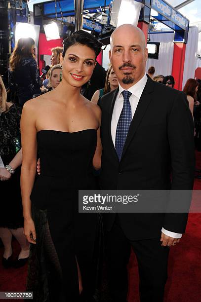 Actress Morena Baccarin and husband Austin Chick attend the 19th Annual Screen Actors Guild Awards at The Shrine Auditorium on January 27 2013 in Los...