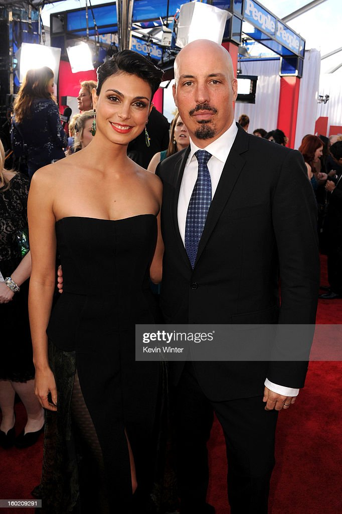 Actress Morena Baccarin and husband Austin Chick attend the 19th Annual Screen Actors Guild Awards at The Shrine Auditorium on January 27, 2013 in Los Angeles, California. (Photo by Kevin Winter/WireImage) 23116_017_0418.JPG