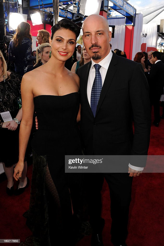 Actress Morena Baccarin and husband Austin Chick attend the 19th Annual Screen Actors Guild Awards at The Shrine Auditorium on January 27, 2013 in Los Angeles, California. (Photo by Kevin Winter/WireImage) 23116_017_0416.JPG