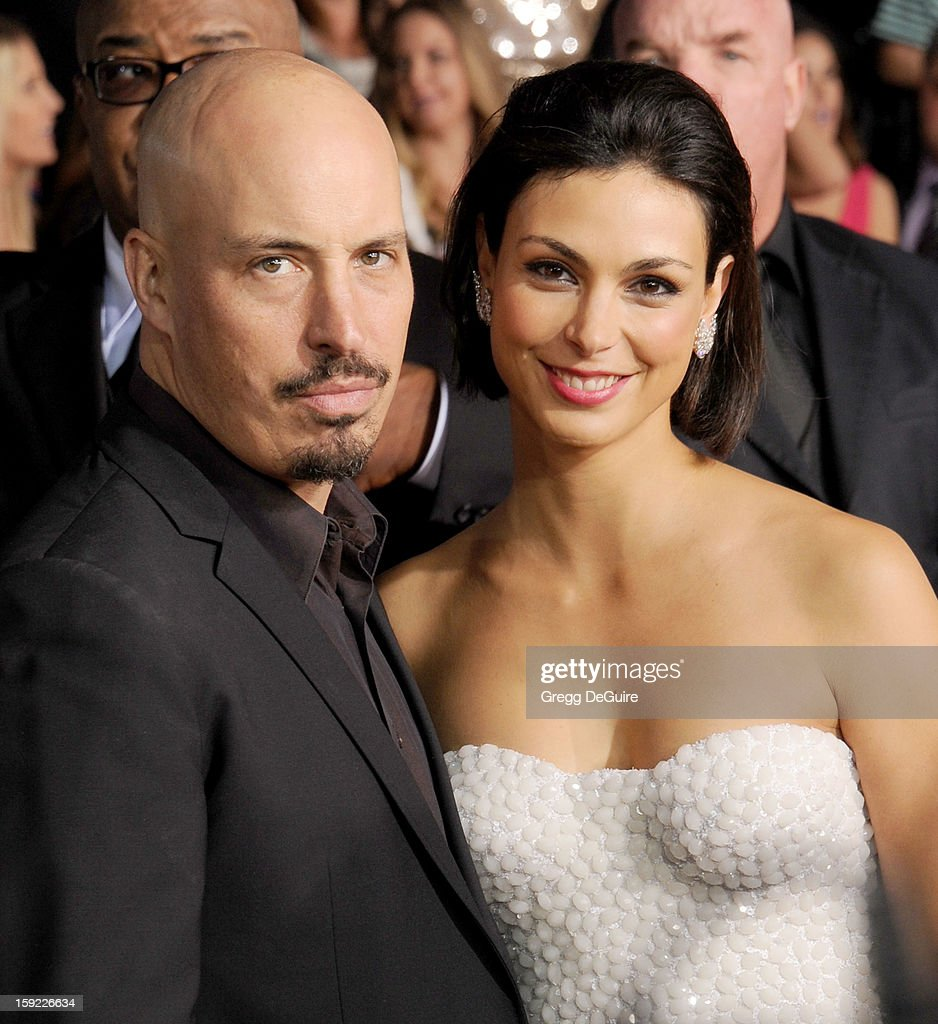 Actress Morena Baccarin and husband/director Austin Chick arrive at the 2013 People's Choice Awards at Nokia Theatre L.A. Live on January 9, 2013 in Los Angeles, California.