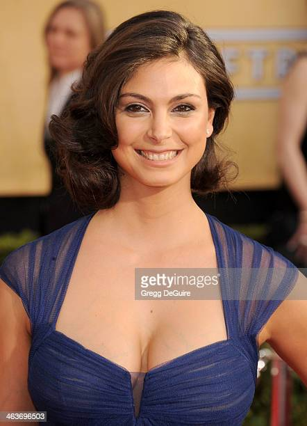Actress Morena Baccarin arrives at the 20th Annual Screen Actors Guild Awards at The Shrine Auditorium on January 18 2014 in Los Angeles California