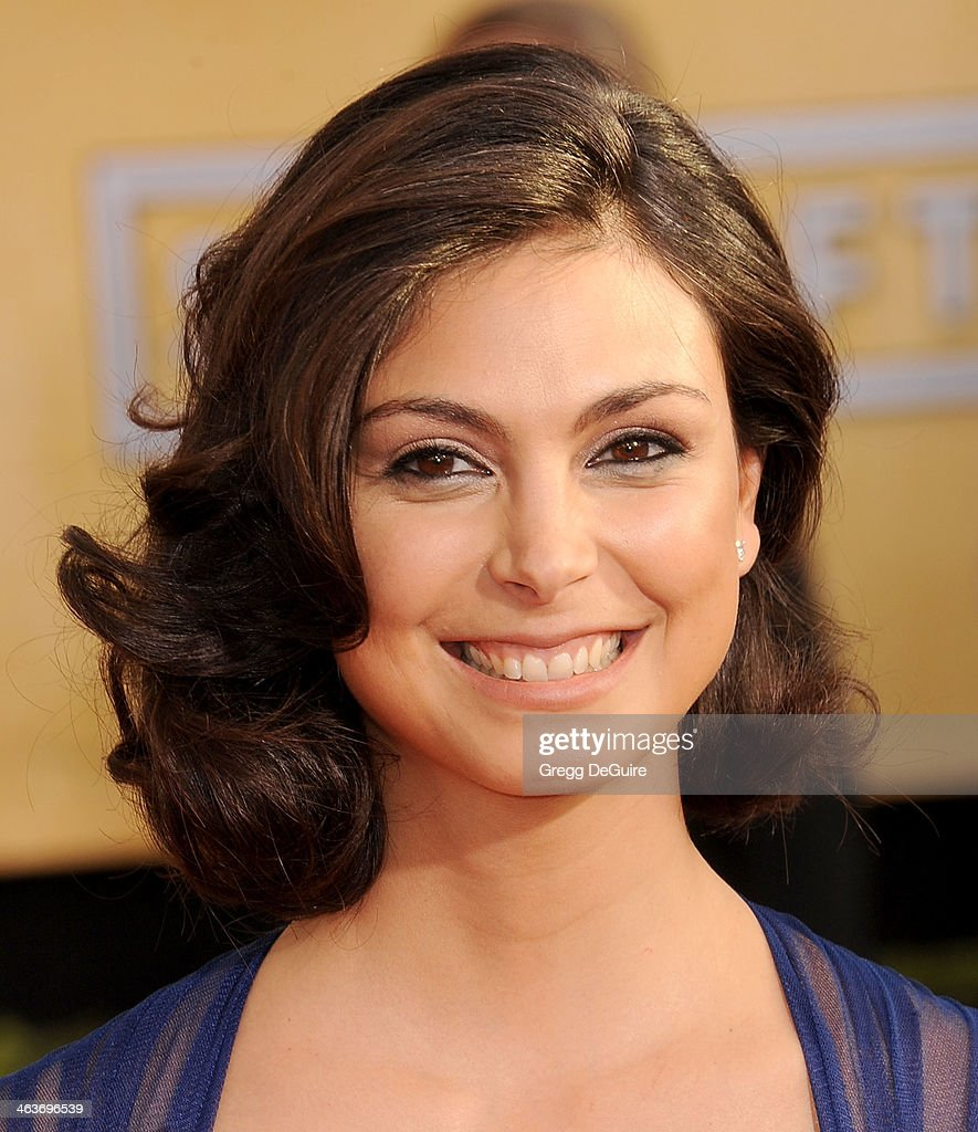 Actress <a gi-track='captionPersonalityLinkClicked' href=/galleries/search?phrase=Morena+Baccarin&family=editorial&specificpeople=812774 ng-click='$event.stopPropagation()'>Morena Baccarin</a> arrives at the 20th Annual Screen Actors Guild Awards at The Shrine Auditorium on January 18, 2014 in Los Angeles, California.