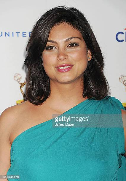 Actress Morena Baccarin arrives at the 65th Emmy Awards Performers Nominee Reception at Spectra by Wolfgang Puck at the Pacific Design Center on...