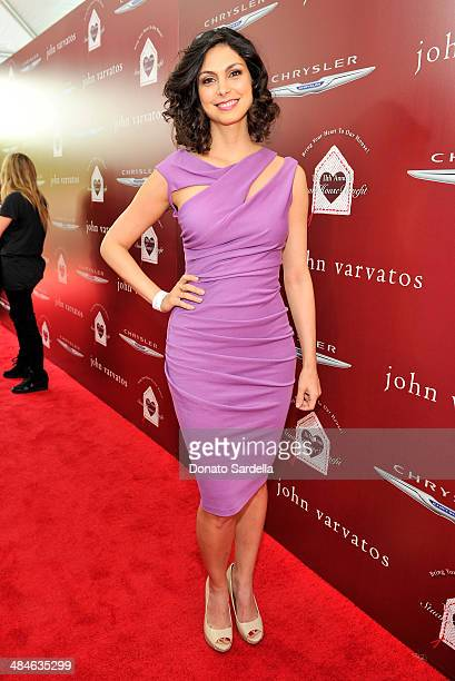 Actress Morena Baccarin arrives at the John Varvatos 11th Annual Stuart House Benefit at John Varvatos Boutique on April 13 2014 in West Hollywood...