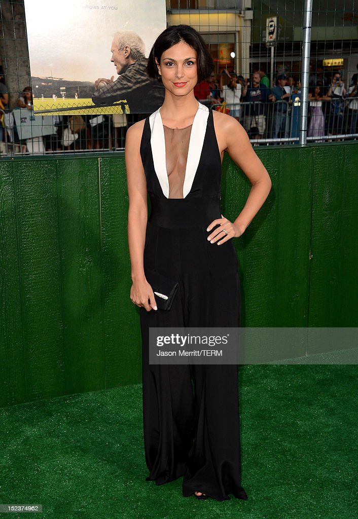 Actress Morena Baccarin arrives at Warner Bros. Pictures' 'Trouble With The Curve' premiere at Regency Village Theatre on September 19, 2012 in Westwood, California.