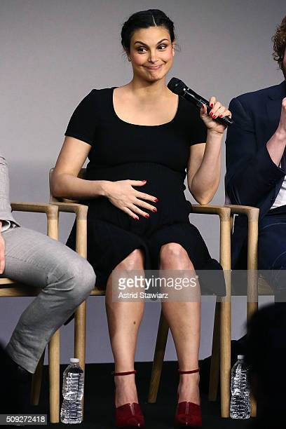 Actress Morena Baccarin attends Apple Store Soho Presents Meet The Actor Ryan Reynolds Morena Baccarin TJ Miller and Ed Skrein 'Deadpool' at Apple...